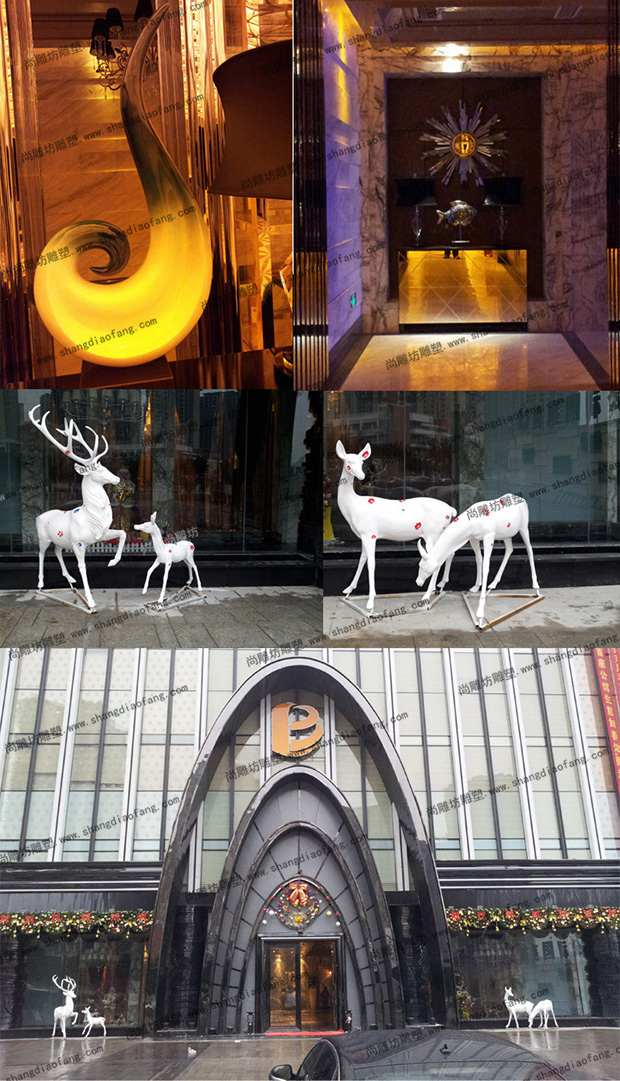 重庆北辰酒店装饰玻璃钢雕塑二