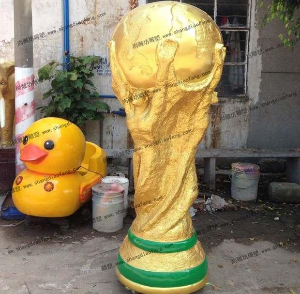 【广场雕塑】大力神杯雕塑小品 1:1打造的世界杯主题装饰